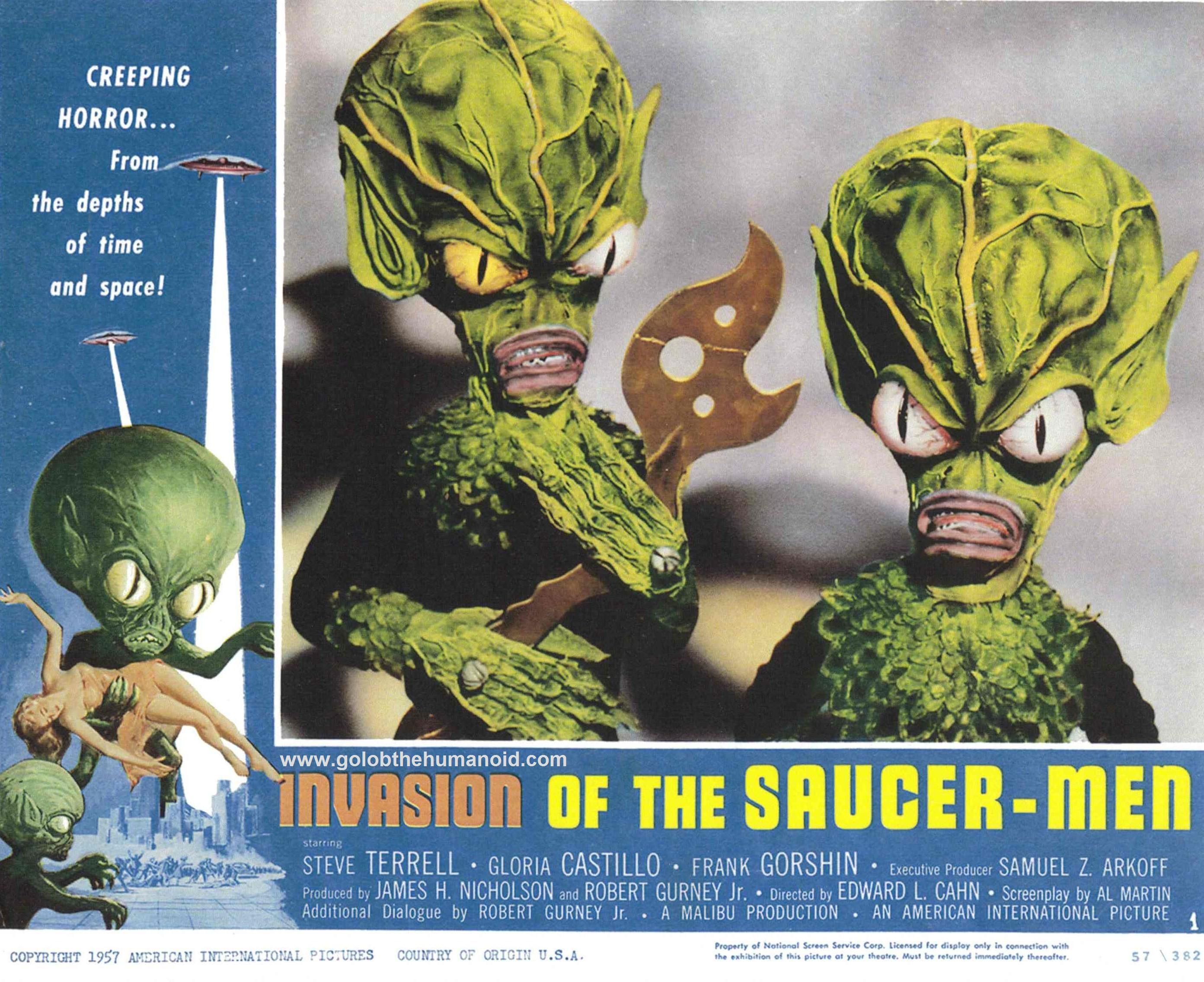 Invasion of the saucer men movie are not